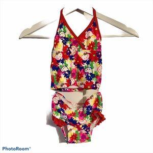 Hello Kitty 2 piece 4T bikini ruffle high waist